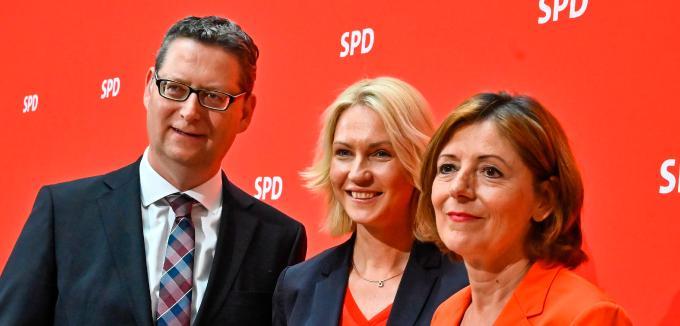 Manuela Schwesig, Malu Dreyer şi Thorsten Schäfer-Gümbel